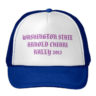 WASHINGTON STATE ARNOLD CHIARI RALLY 2013 TRUCKER HAT