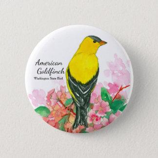 Washington State Bird American Goldfinch 2 Inch Round Button