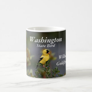 Washington state bird willow goldfinch coffee mug
