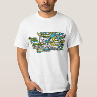 Washington State Cities T-shirt