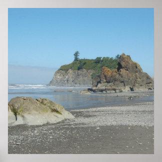 Washington State Coastline Poster