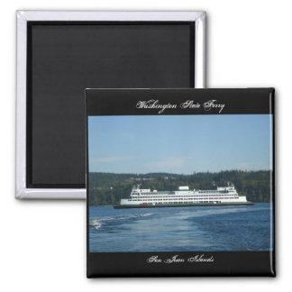 Washington State Ferry, San Juan Islands Square Magnet