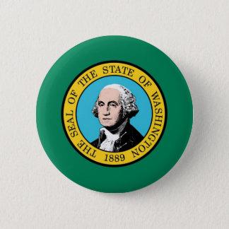 Washington State Flag 2 Inch Round Button