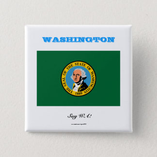 WASHINGTON state flag 2 Inch Square Button