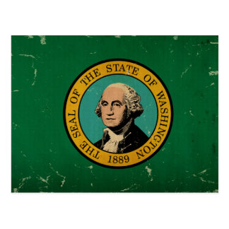 Washington State Flag VINTAGE Postcard