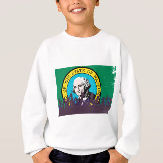 Washington State Flag with Audience Sweatshirt