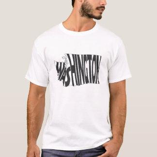 Washington State Name Word Art Black T-Shirt