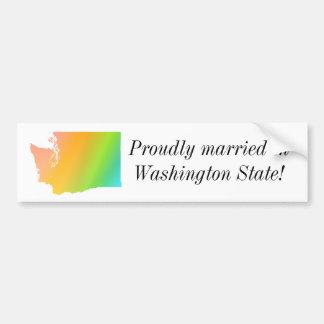 Washington State Pride Bumper Sticker