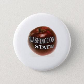 Washington state red apple 2 inch round button