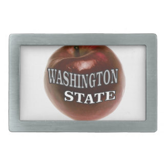 Washington state red apple belt buckle