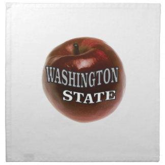 Washington state red apple napkin