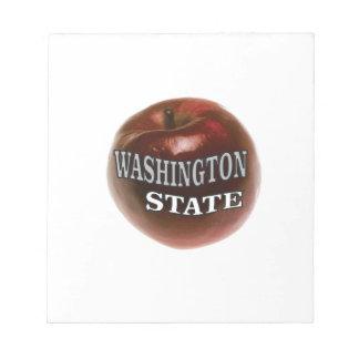 Washington state red apple notepad