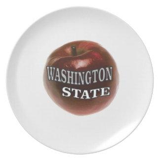 Washington state red apple plate