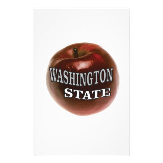 Washington state red apple stationery