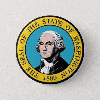 Washington State Seal 2 Inch Round Button