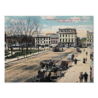 Washington Street, Morristown NJ, Vintage Poster
