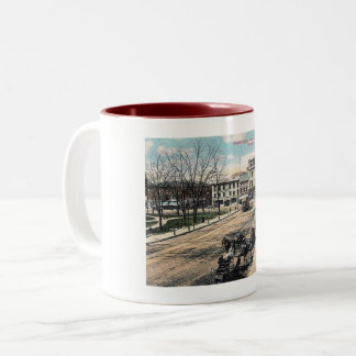 Washington Street, Morristown NJ, Vintage Two-Tone Coffee Mug