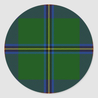 Washington-tartan Classic Round Sticker