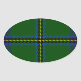 Washington-tartan Oval Sticker