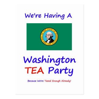 Washington TEA Party - We're Taxed Enough Already! Postcard
