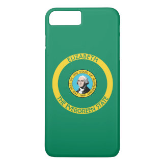 Washington The Evergreen State Personalized Flag iPhone 7 Plus Case