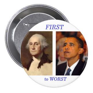 Washington to Obama 3 Inch Round Button