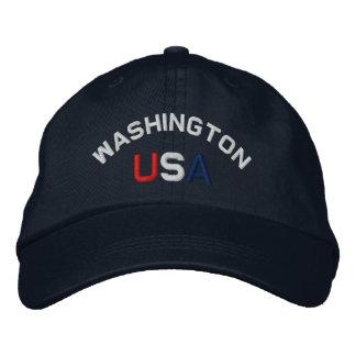 Washington  USA Embroidered Navy Blue Hat