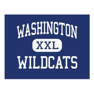 Washington - Wildcats - High - Pensacola Florida Postcard