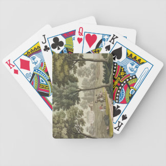 Washington's house at Mount Vernon, from 'Le Costu Bicycle Playing Cards
