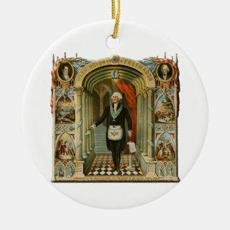 washinton ceramic ornament
