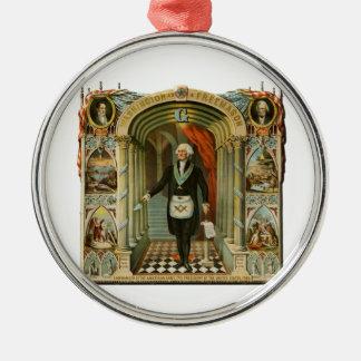 washinton metal ornament