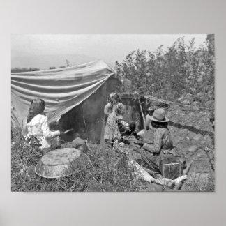 Washoe summer camp scene near Sparks, Nevada, ca. Poster