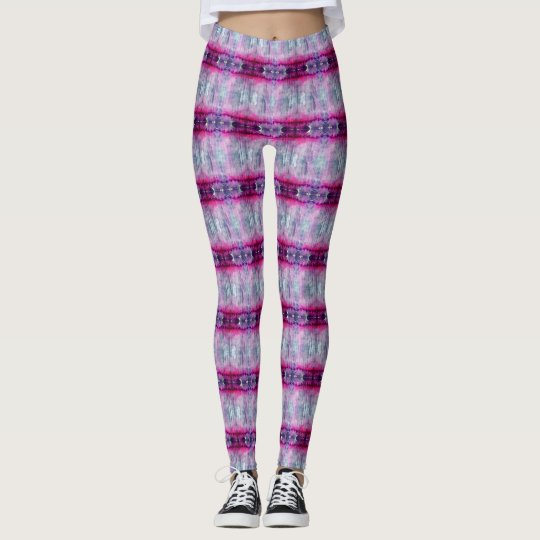 Washy Pink Stripe Pattern Leggings