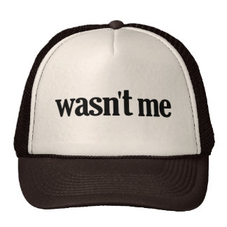 Wasn't Me Trucker Hat