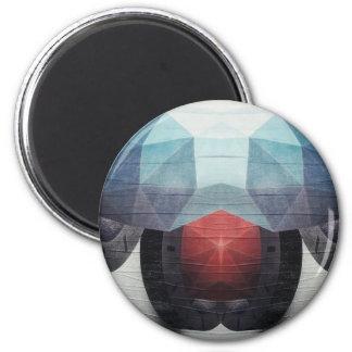 Waso Pattern Geometric 2 Inch Round Magnet