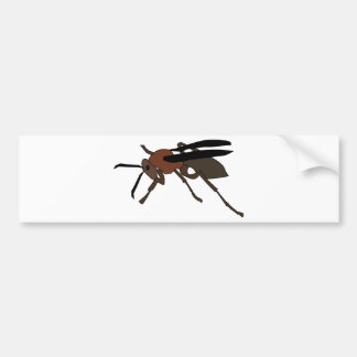 Wasp Drawing Bumper Sticker