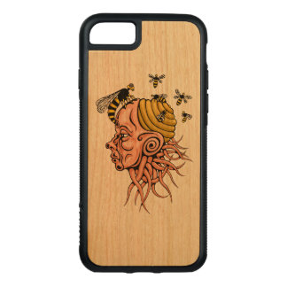 wasp nest - head shape design carved iPhone 8/7 case
