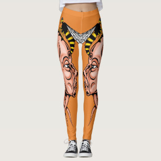 wasp nest - head shape design leggings