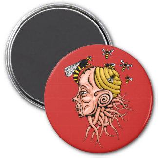 wasp nest - head shape design magnet