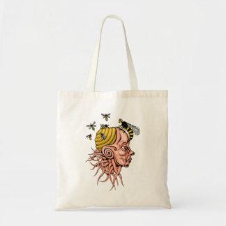 wasp nest - head shape design tote bag