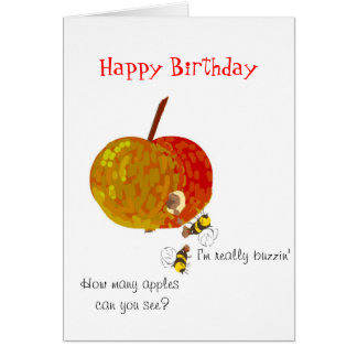 Wasps Drinking Cider, Custom Birthday Cards