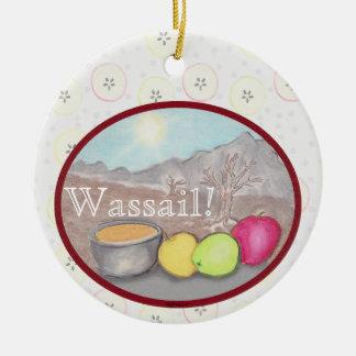 Wassail Apples Yule Solstice Ceramic Ornament