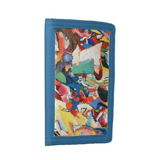 Wassily Kandinsky Angel Blue TriFold Nylon Wallet