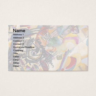 Wassily Kandinsky - Composition 7 Abstract Art Business Card