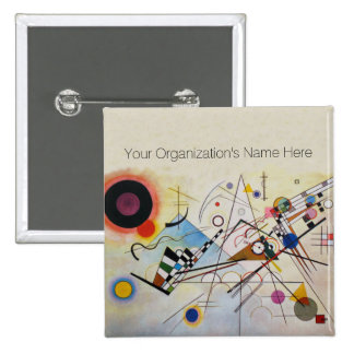 Wassily Kandinsky - Composition 8 - Functional Art 2 Inch Square Button