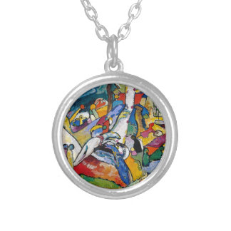 Wassily Kandinsky - Composition II Abstract Art Silver Plated Necklace