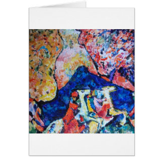 Wassily Kandinsky horse rider blue mountains Greeting Card
