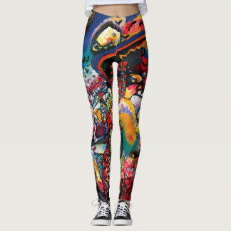 Wassily Kandinsky - Moscow Cityscape Abstract Art Leggings
