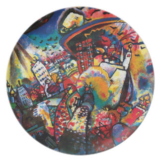 Wassily Kandinsky - Moscow Cityscape Abstract Art Plate