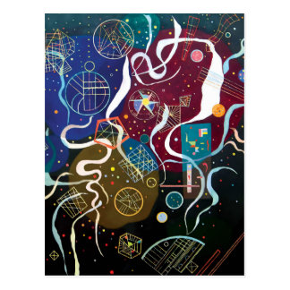 Wassily Kandinsky - Movement One Abstract Art Postcard